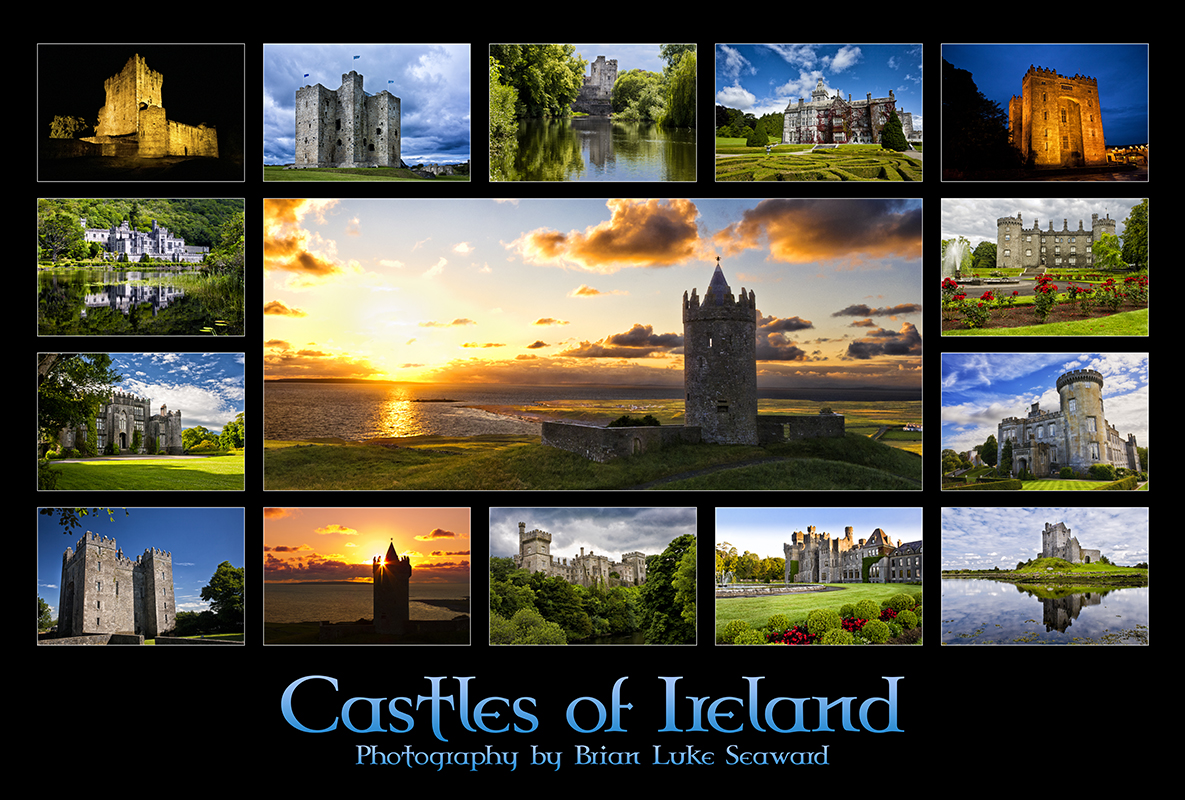Castles of Ireland Poster - Brian Luke Seaward - Inspiration Unlimited